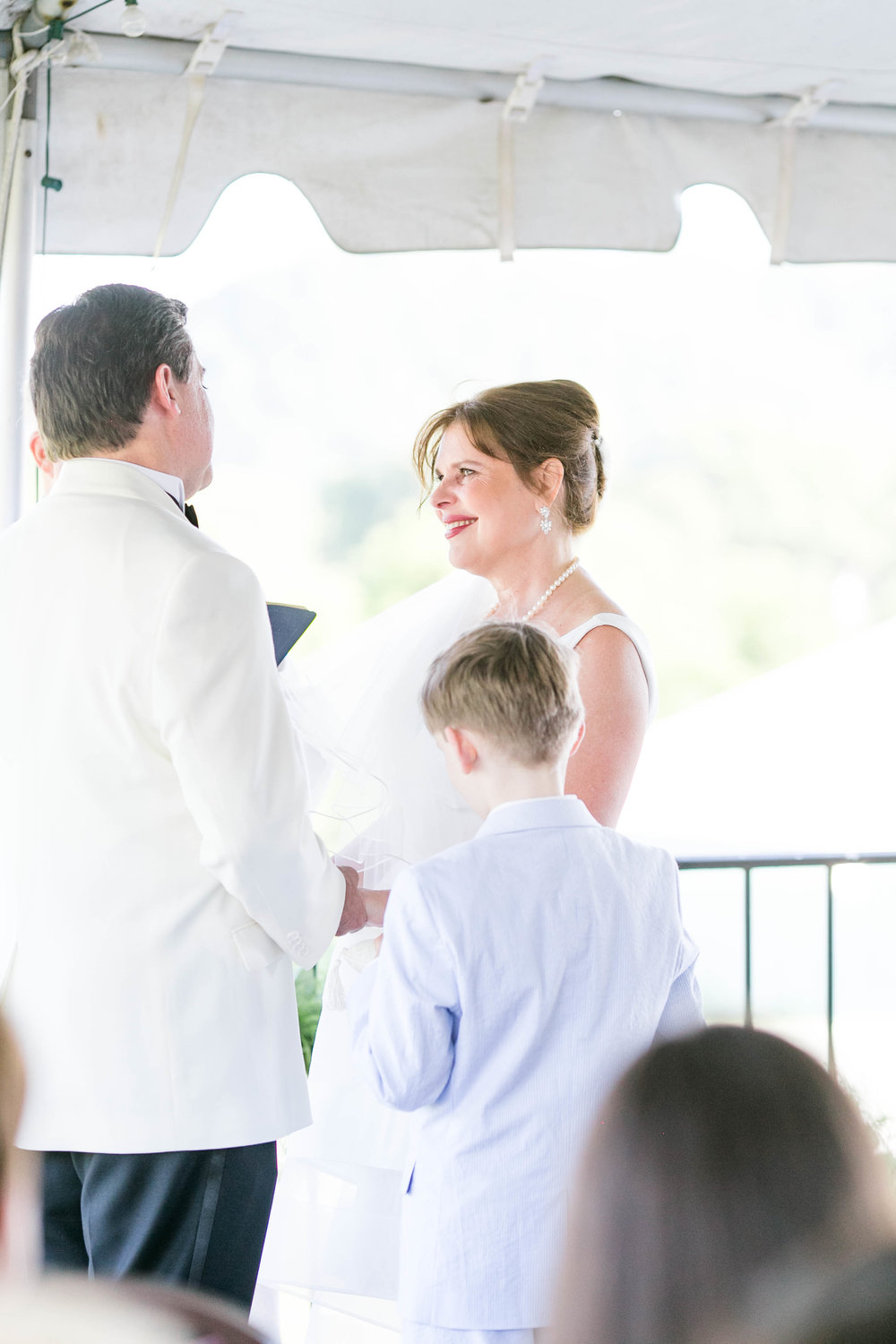 Johnson City Country Club wedding, East Tennessee wedding venue, Tri Cities TN wedding photographer, wedding ceremony, balcony wedding