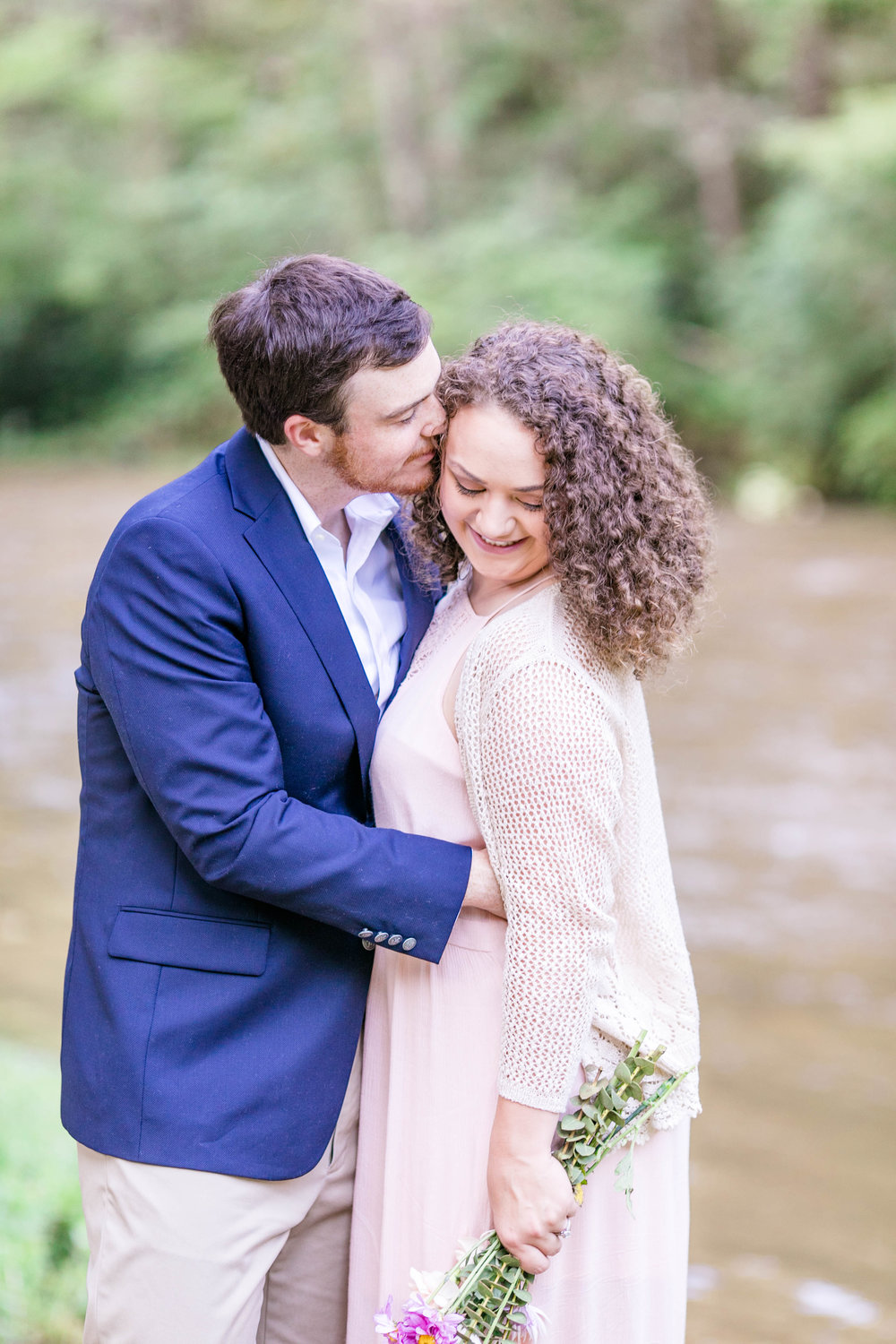 East Tennessee engagement session, wedding photographer, portrait photography, bride and groom, Doe River Gorge, wedding venue, Tri Cities wedding photographer, Johnson City, natural poses