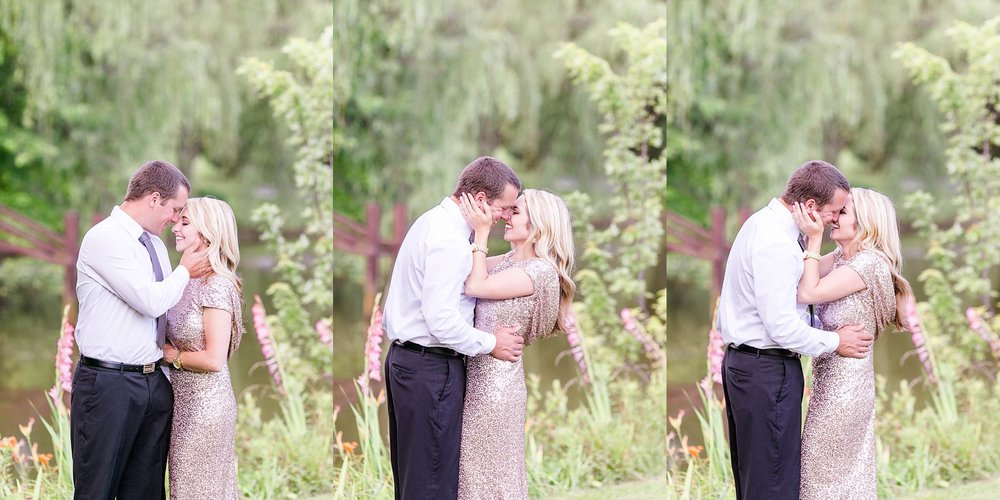 East Tennessee wedding photographer, Johnson City engagement photography, Tri Cities TN photographer, Storybrook Farm, anniversary session, gold dress, formal couple photos, natural posing