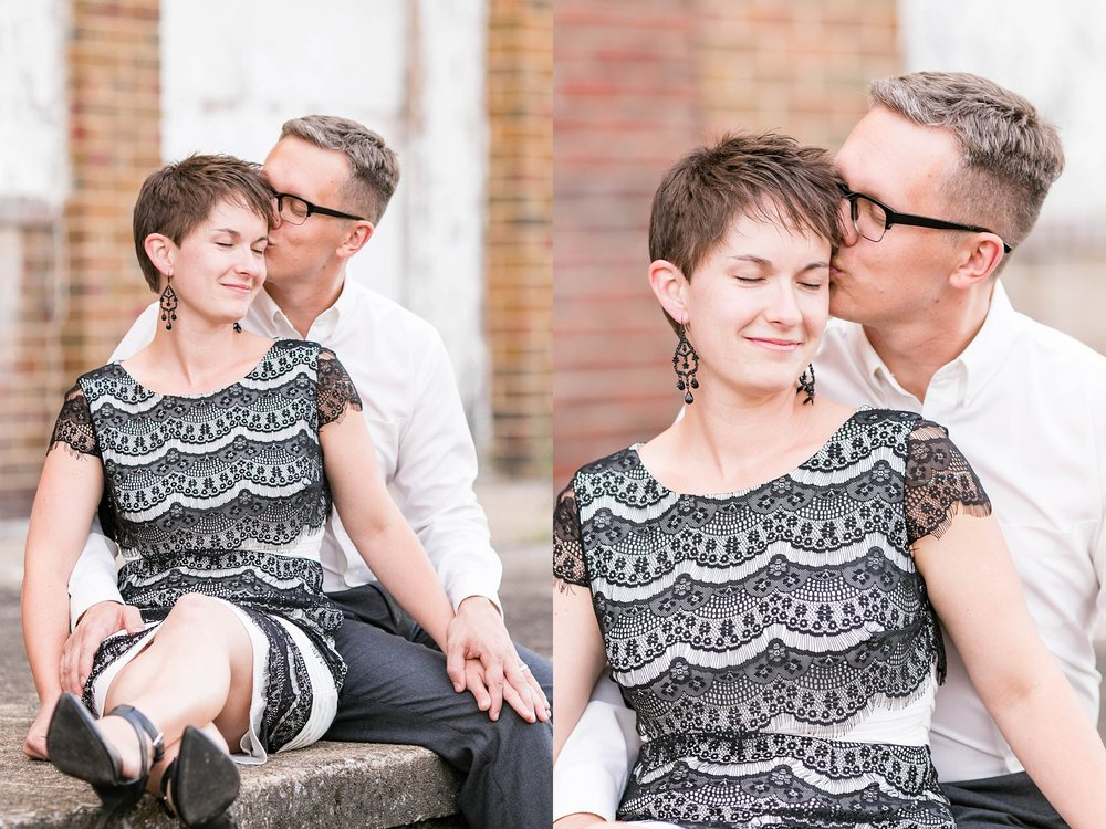 Johnson City TN photographer, Downtown Johnson City anniversary session, urban couple photos, romantic city photoshoot