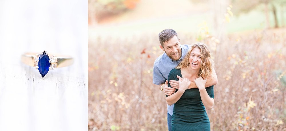 East Tennessee Roan Mountain engagement session, fall photos, Tri Cities photographer, wedding photography, happy couple, natural laughter engagement photos