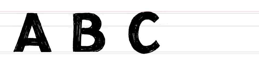 ABC Mono Hand Lettering