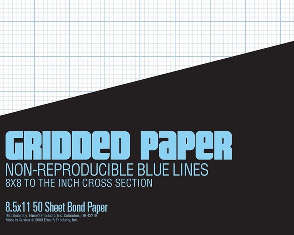 lettering tools gridded paper