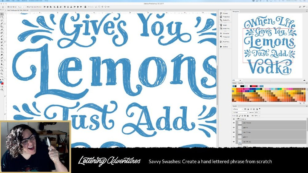 Creative Cloud lettering in Photoshop