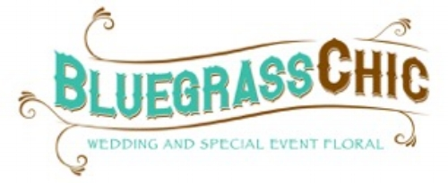 bluegrass chic wedding and special event floral logo