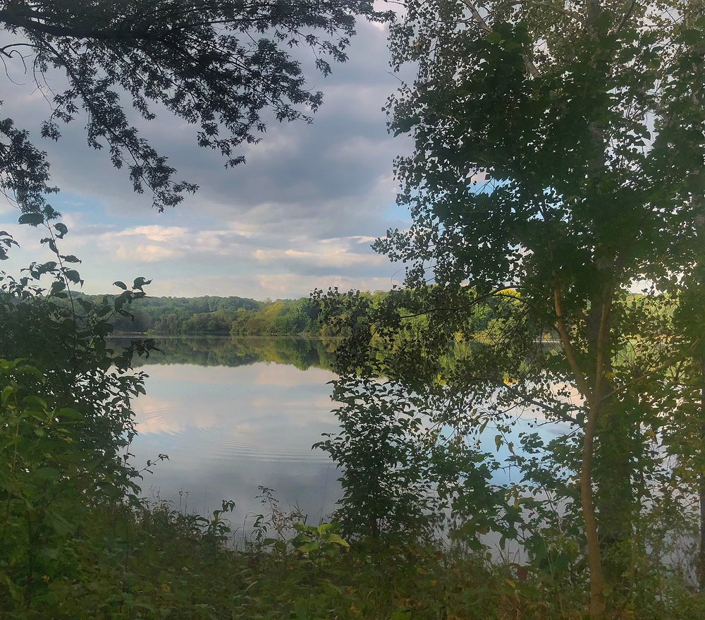 Sugar Bottom Campground, looking out over the Coralville Lake