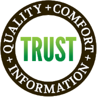 Equation with Quality + Comfort + Information equals trust