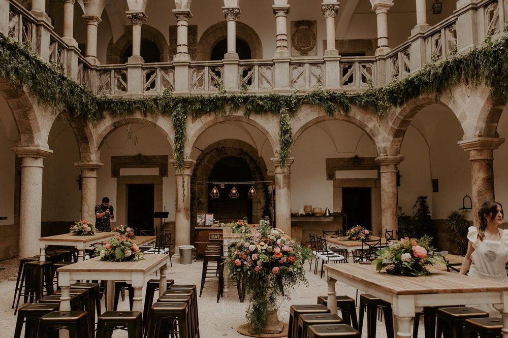 fénix visual, decoración de boda en el castillo, las catalinas,