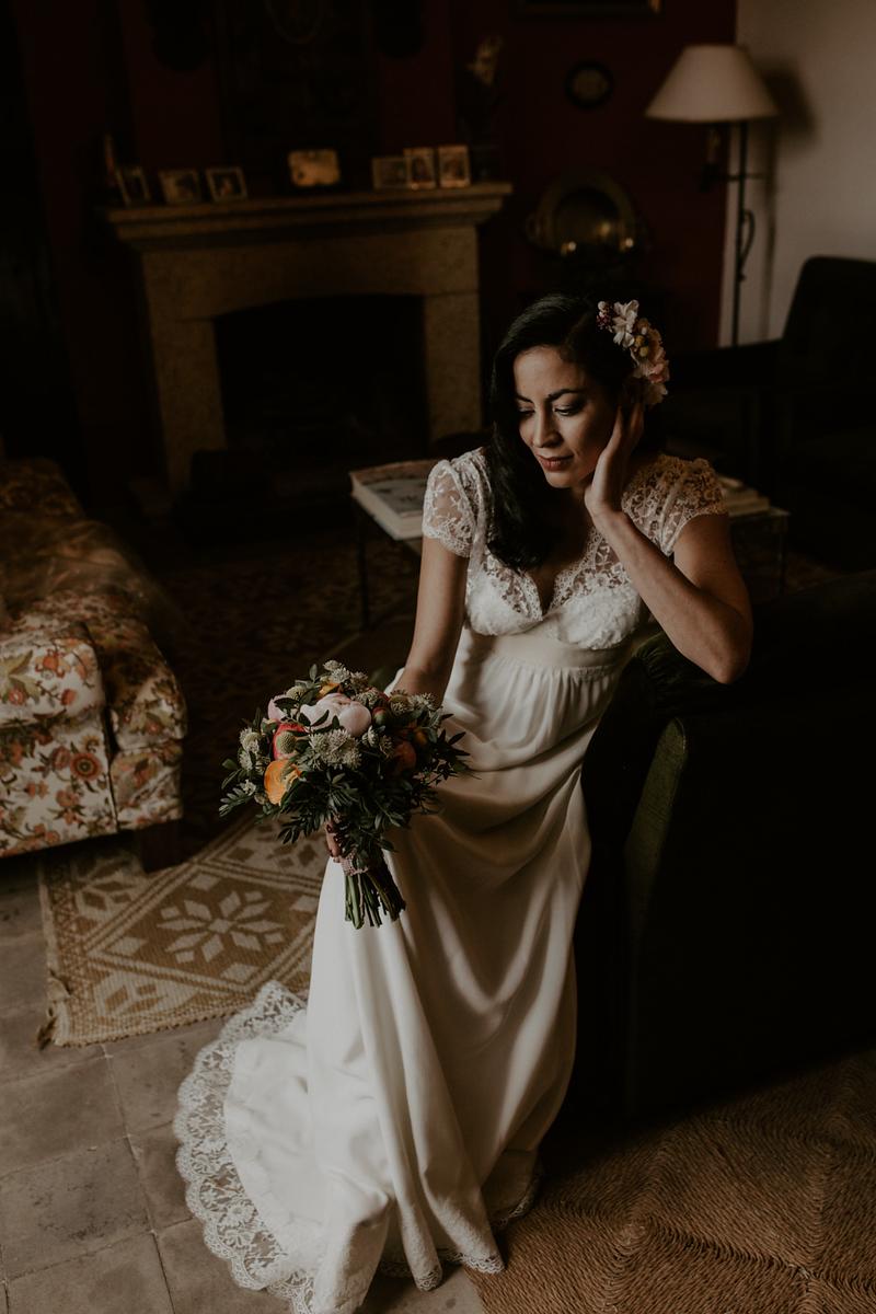 novia en el castillo de piedrabuena, fénix visual,