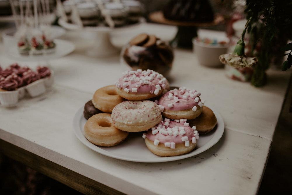 donuts, boda en el castillo de piedrabuena,