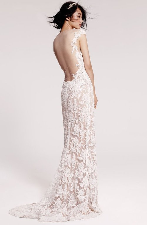 5013 by Reem Acra   Size 8/Cream/Nude  $4,950 now $1,485