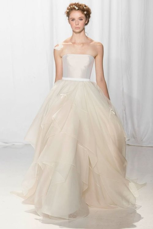 5642 by Reem Acra   Size 10/Cream/Blush   $4,995 now $2,497.50