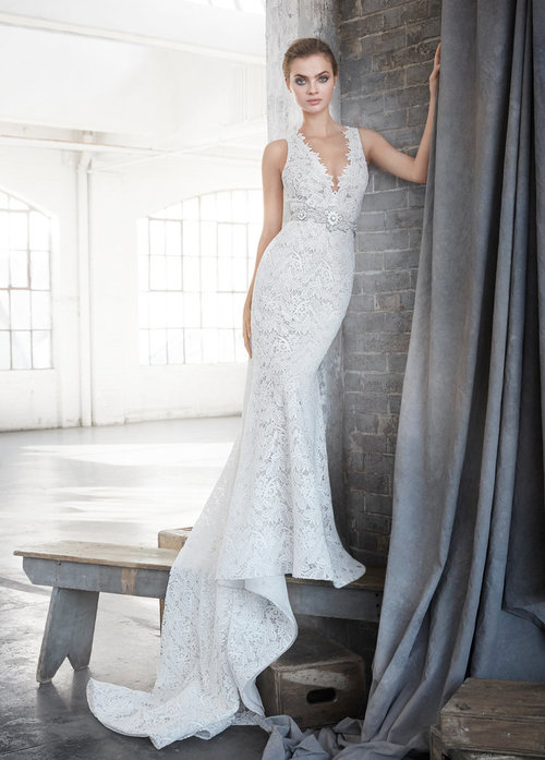 3611 by Lazaro   Size 12/Ivory/Cashmere  $3,575 now $1,787.50