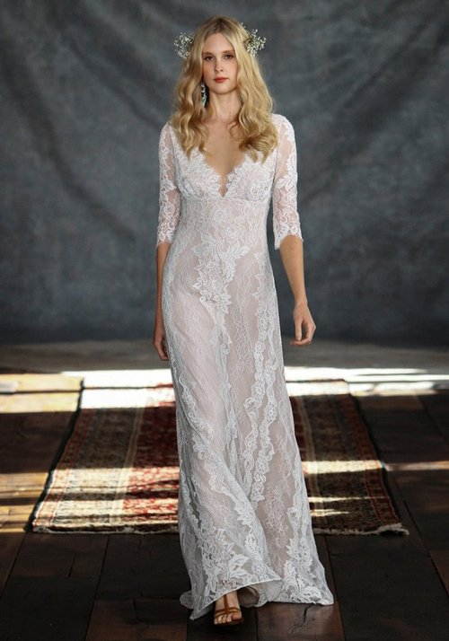 Patchouli by Claire Pettibone  Size 10/Ivory/Nude  $2,550 now $1,275