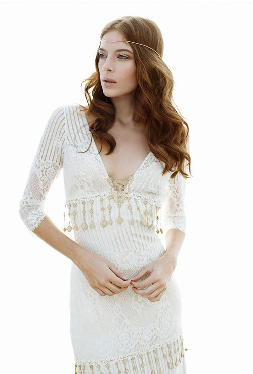 Seville by Claire Pettibone  Size 12/Ivory/Gold/Pearl  $3,168 now $1,584
