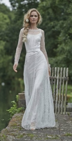 Ana Over-Dress by Stephanie Allin  Size 12/Ivory   $2,700 now $810