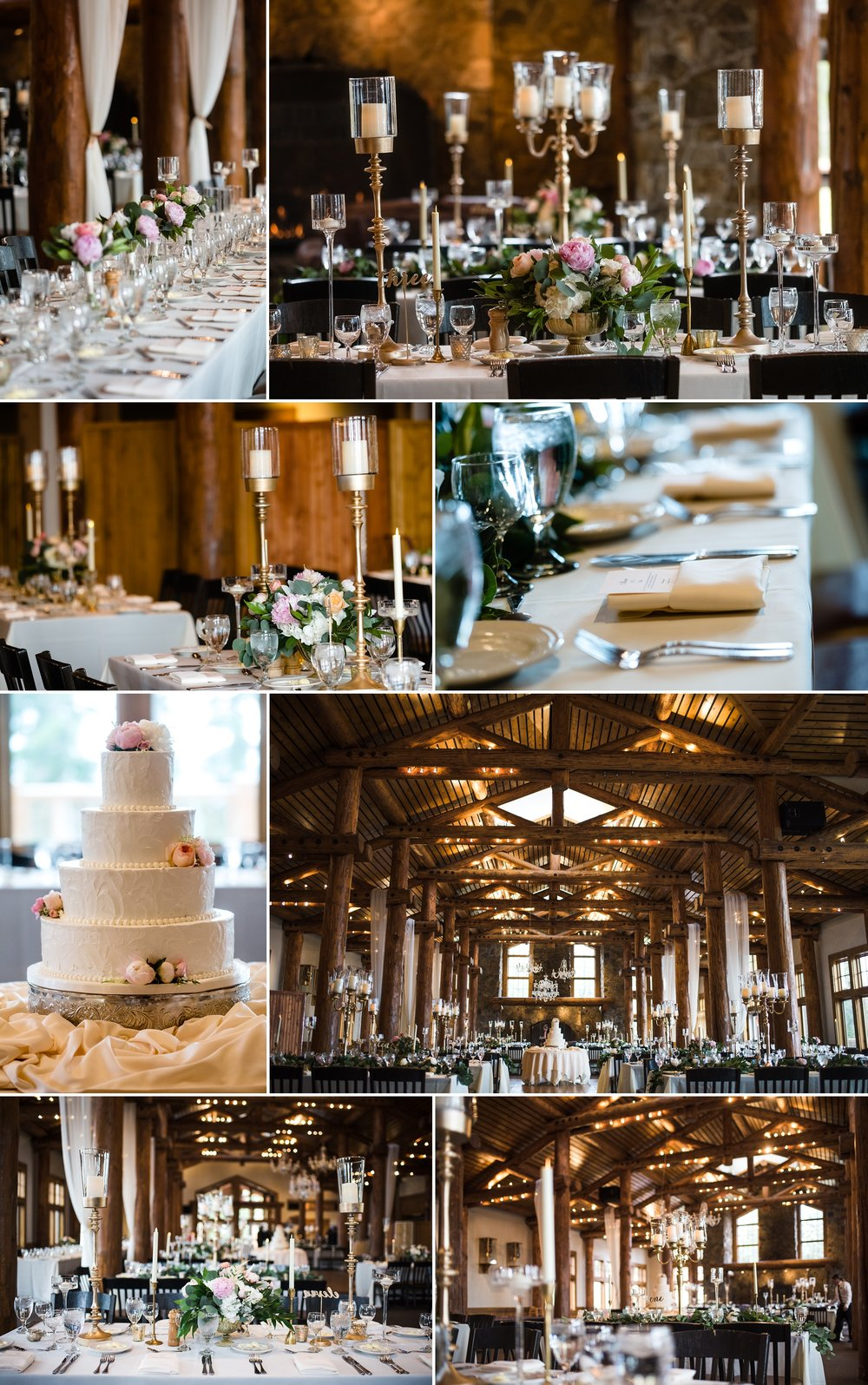 Reception details at Timber Ridge Lodge in Keystone