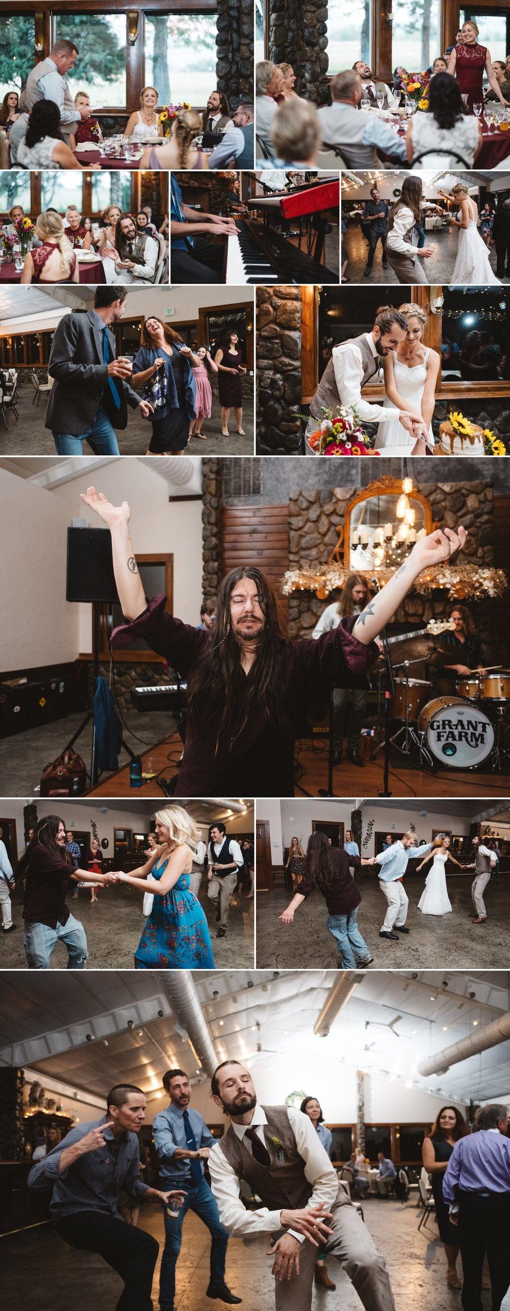Reception dancing at Schupe Homestead Wedding by Kate Merrill