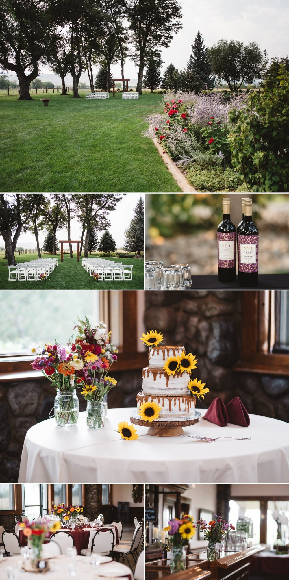 Ceremony details at the schupe homestead in Colorado