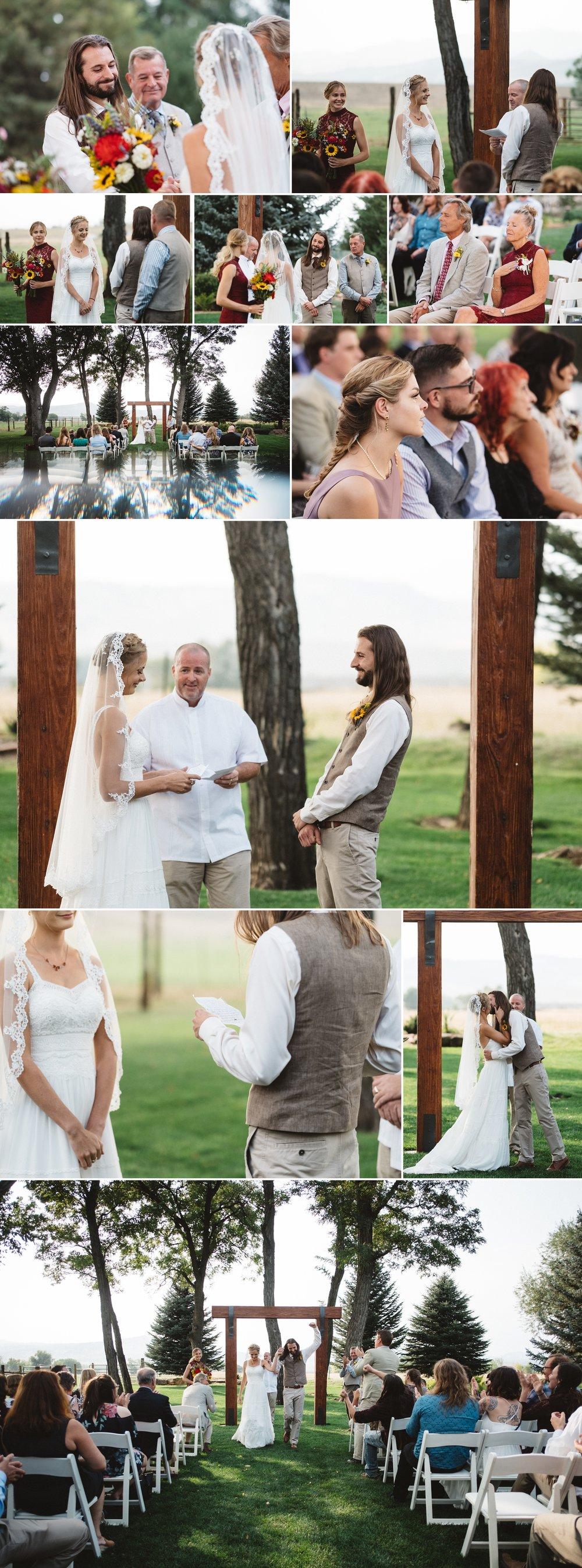 Wedding Ceremony at Schupe Homestead in Colorado