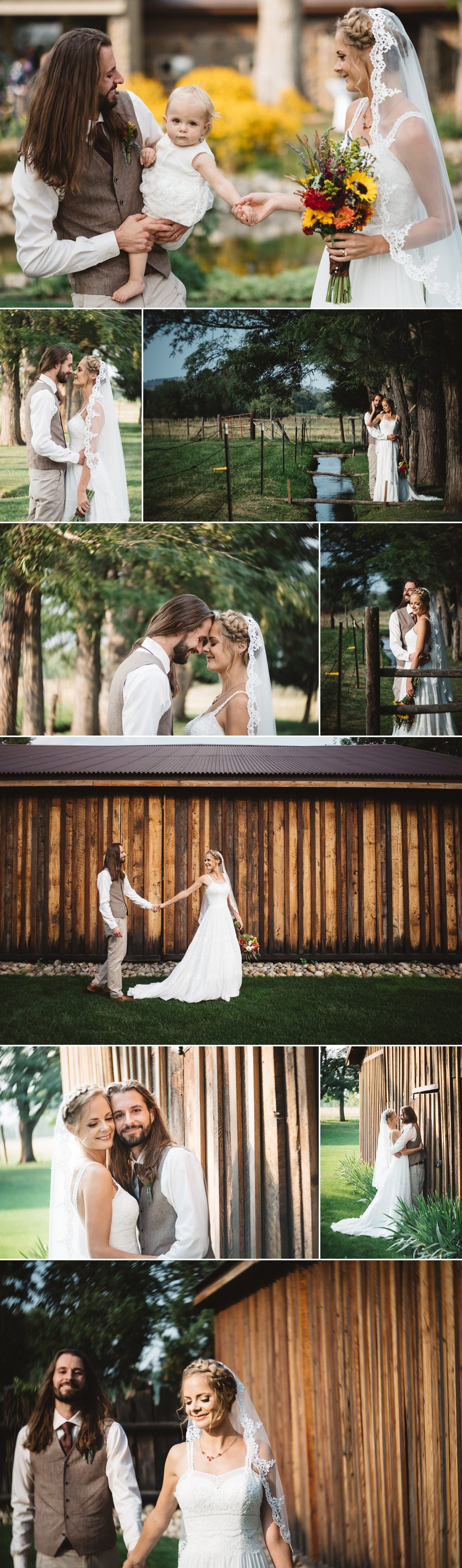 Couples portraits at Schupe Homestead Wedding by Kate Merrill Photo