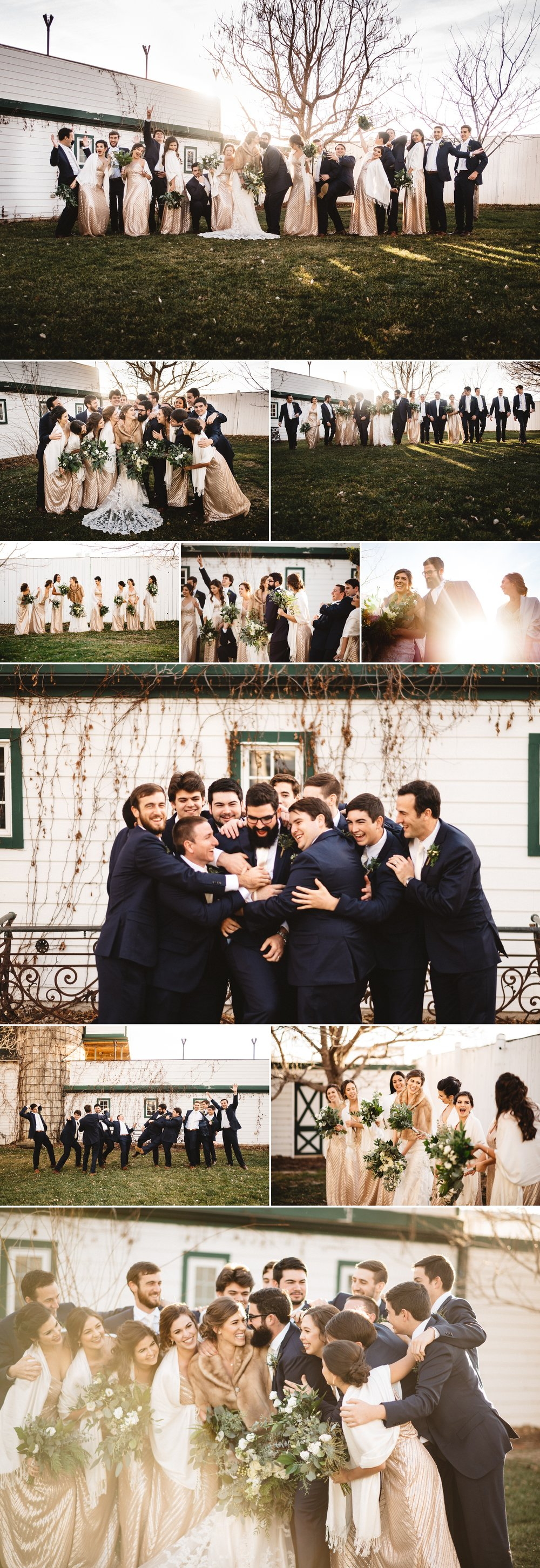 Fun photos with Sarah + Charlie's wedding party at the Lionsgate Event Center.