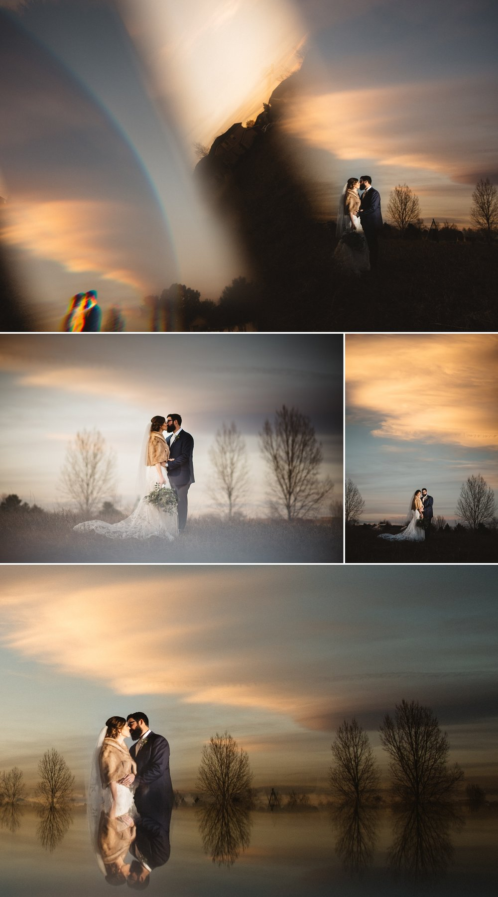 We got creative with their sunset portraits and I LOVED how they turned out. It's so worth it to time your photography so you can capture the amazing Colorado skies!!