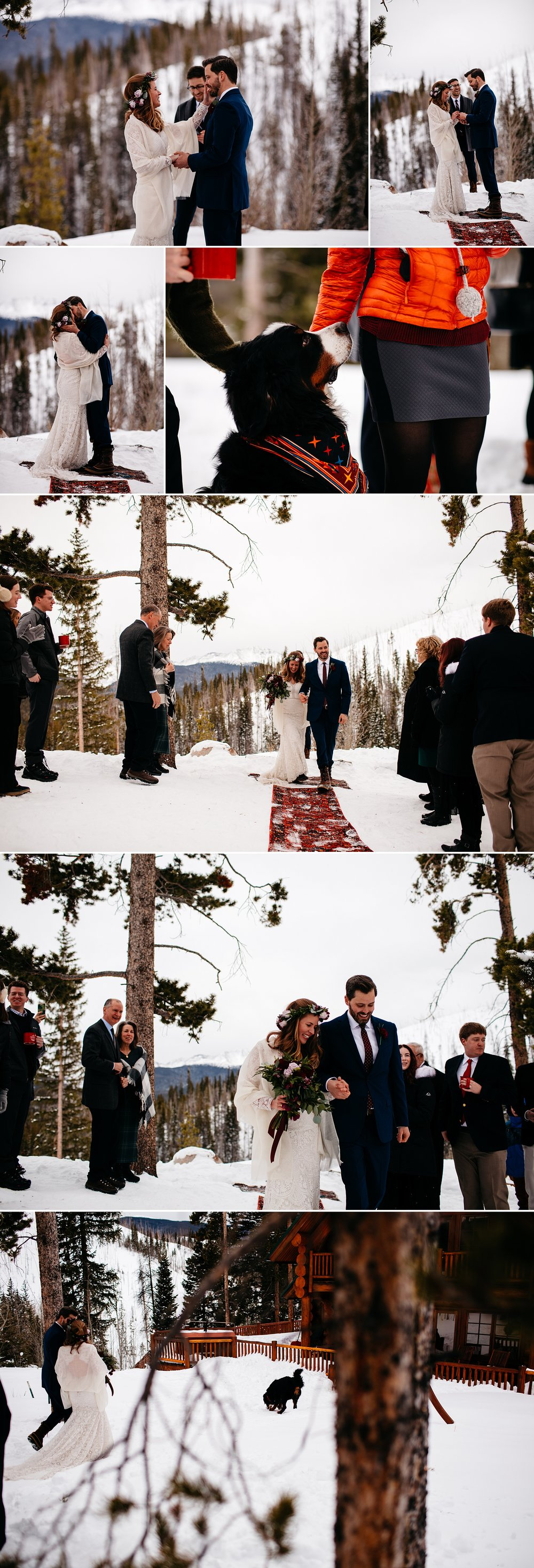 Intimate Mountain Airbnb Wedding in Colorado