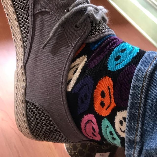 Smiley socks for my B-day 😃 #techno #musicproducer #musicproduction #dj #live #recordlabel #cortexrecordings #acid #smiley