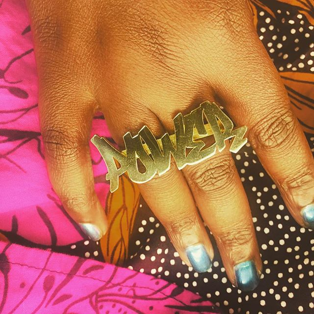 POWER. Thank you so much @dj_agana & @ybca for the dopest ring ever! #ybca100