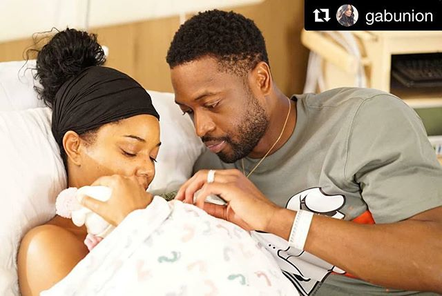 Congratulations to new mom @gabunion and happy dad @dwyanewade! 👶🏾✨✨✨🎉🎊🧸🎈 #Repost @gabunion ・・・ 🎵 When I wake up in the mornin' love And the sunlight hurts my eyes And there's something without warning, love  Bears heavy on my mind  Then I look at you And the world's alright with me Just one look at you And I know its gonna be A lovely day A lovely day 🎶  A LOVELY DAY 👶🏾👶🏾👶🏾 We are sleepless and delirious but so excited to share that our miracle baby arrived last night via surrogate and 11/7 will forever be etched in our hearts as the most loveliest of all the lovely days. Welcome to the party sweet girl! #onelastdance #skintoskin @dwyanewade ❤👑🥂