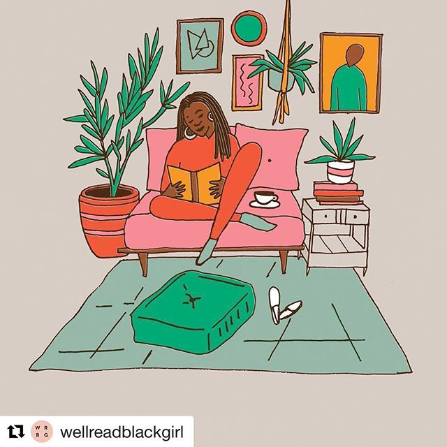 Us. ALL DAY. What are you reading and loving right now? 📚💕✨✨✨ #Repost @wellreadblackgirl ・・・ illustrator & author @andreapippins ✨🙌🏾📖 Can't wait to curl up on my couch and read @michelleobama's BECOMING tonight #headingbacktobrooklyn ・・・ Chill time illustration inspired by @wellreadblackgirl 💖 #wellreadblackgirl #nowreading #IAmBecoming