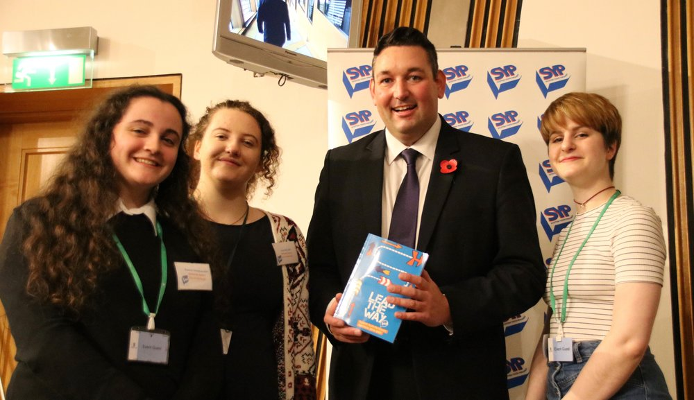 Miles with local Members of the Scottish Youth Parliament