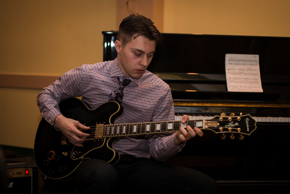 My nephew Michael, killin' it on the guitar.