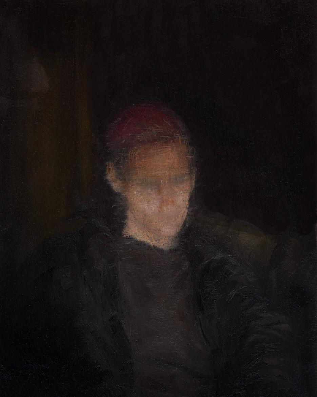 """Dillon Samuelson,  Untitled (Self-Portrait), 9"""" x 7"""""""