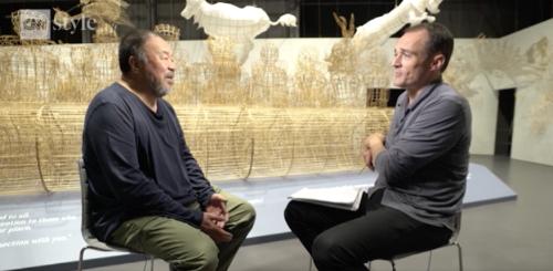 Ai Weiwei in an interview on CNN.