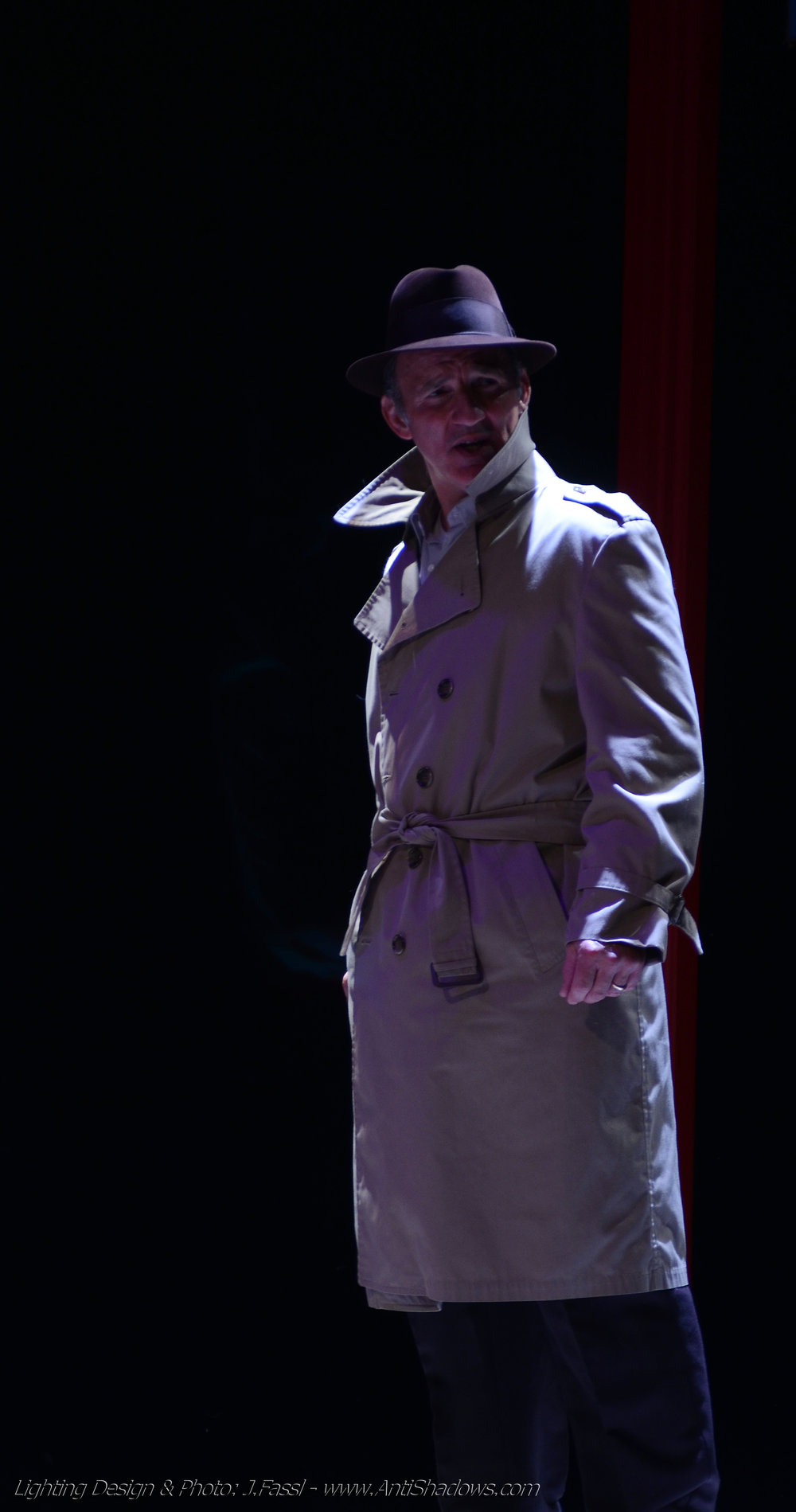 Michael Herold in Theatre LILA's  Suitcase Dreams .