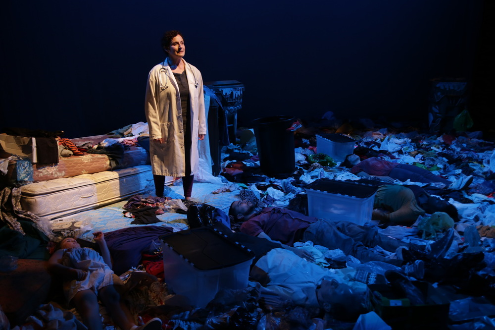 Laura Gordon in Theatre LILA's Trash.
