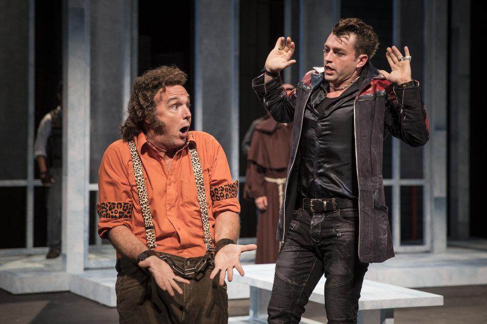 "David Daniel and Casey Hoekstra in APT's ""Measure for Measure."" Photo by Liz Lauren."