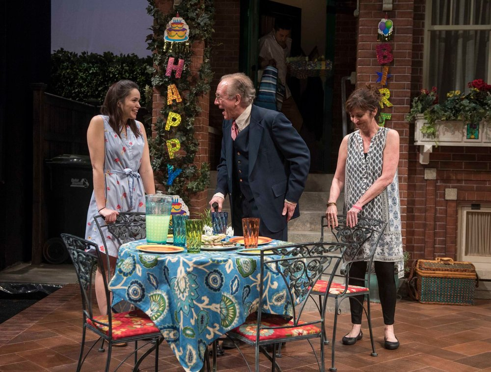 "The Milwaukee Rep's production of ""One House Over."""