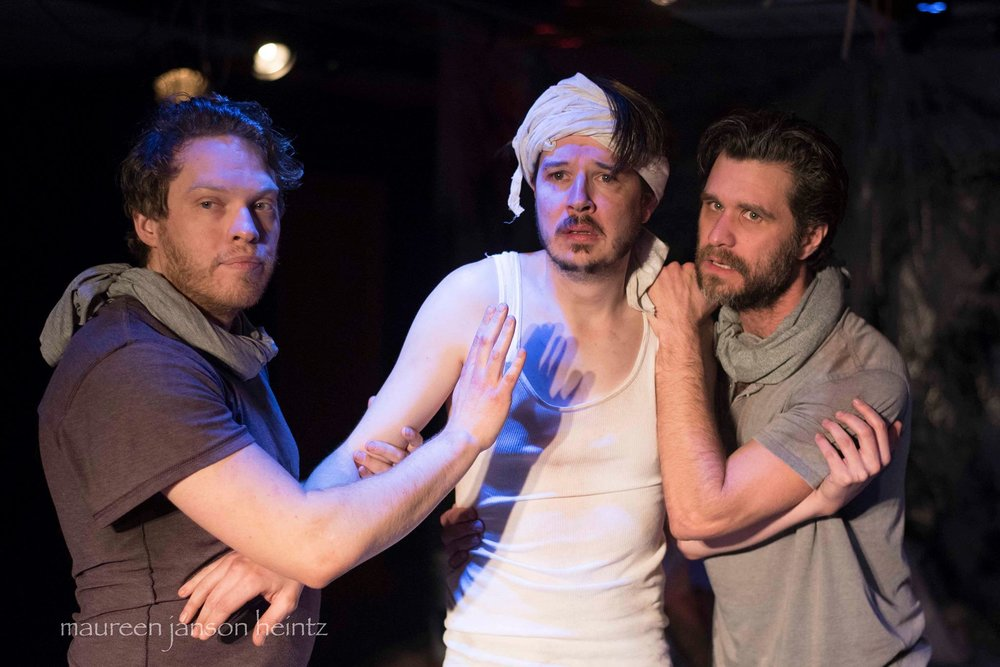"""Photo by Maureen Janson Heintz. Two Crows Theatre's current production, """"Someone Who'll Watch Over Me."""""""