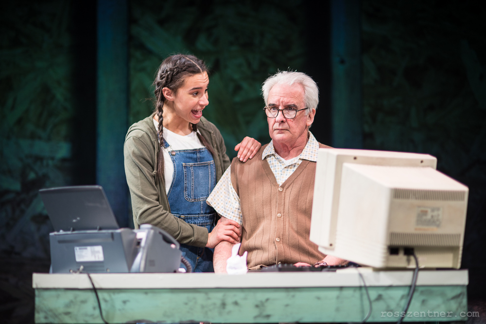 Parish (Annie) and Jonathan Gillard Daly (Dr. Jump). Photo by Ross Zentner.