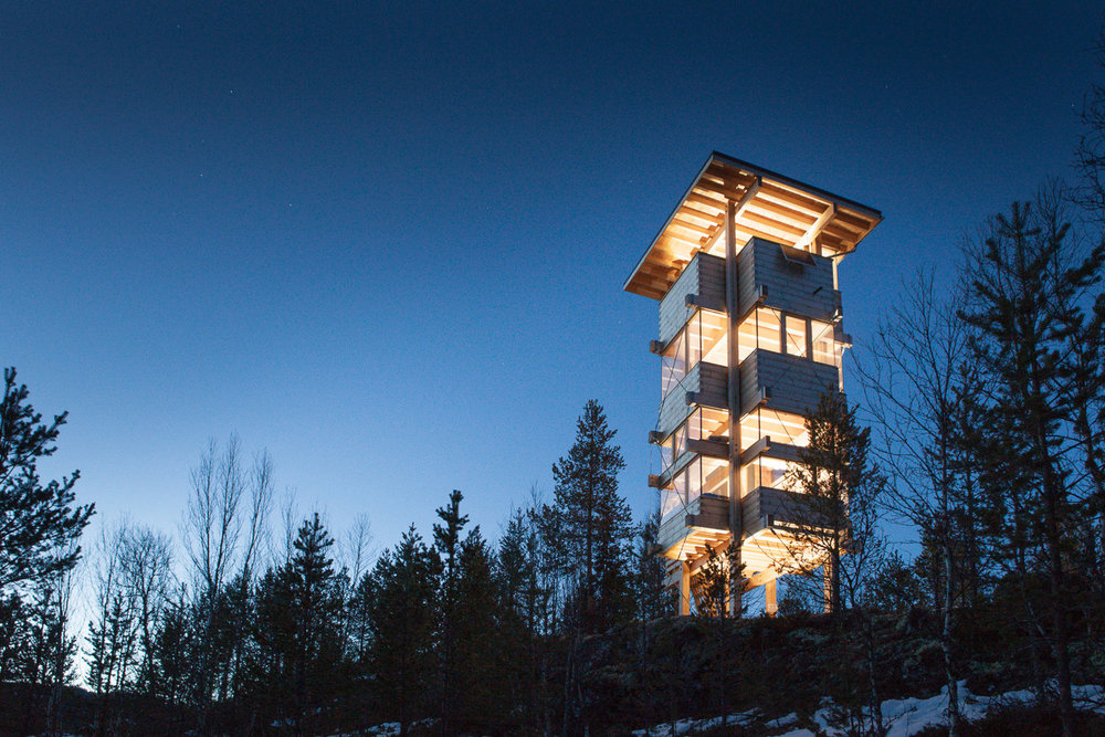 Moose tower in Espedalen