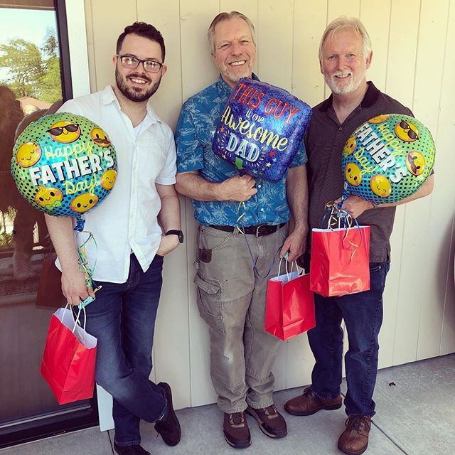 Grand prize winners during our Father's Day service! Thank you Dad's for all that you are to us! Do something special for your dad today and comment below what you did! #fathersdaygifts #fathersday #happyfathersday