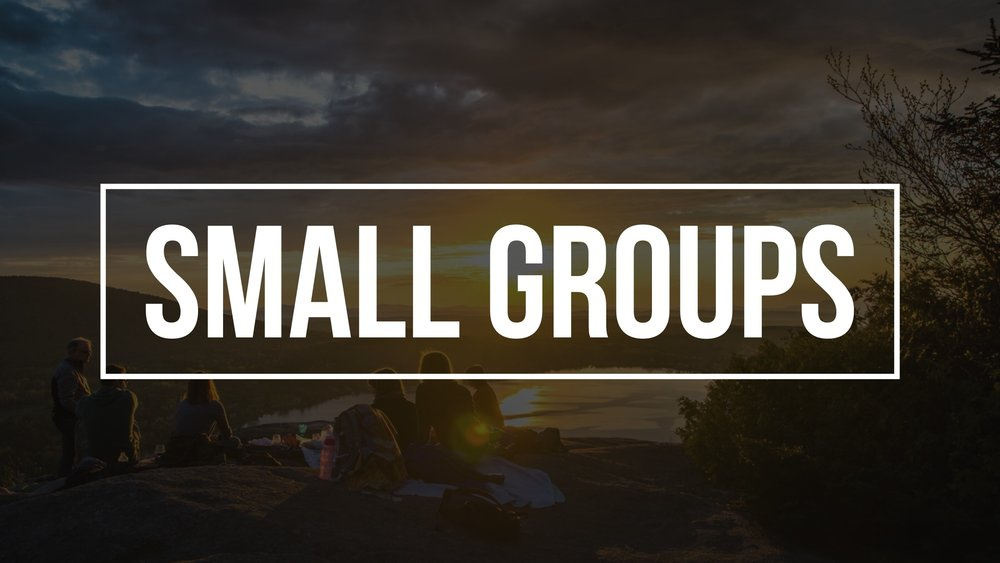 Small Groups have started! - Interested in joining one?
