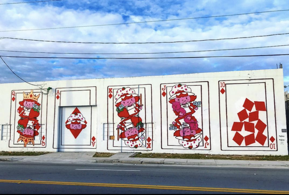 Royal Flush by Meg Zany, collab with Arsenic in Wynwood Walls area of Miami. Photo by  @kaotik954