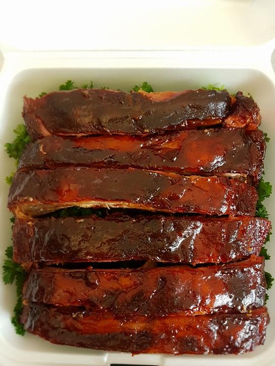 Last place ribs - an over cooked, over-sauced failure