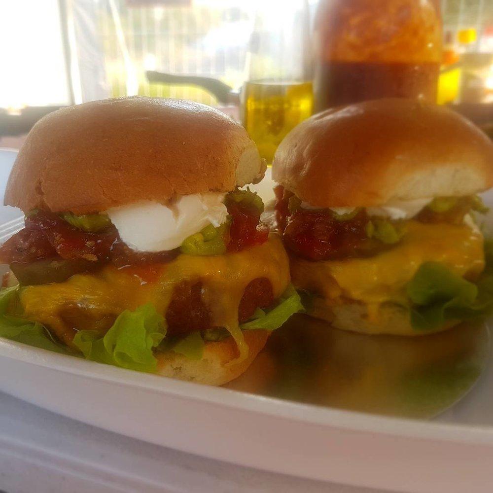 The winning burgers!