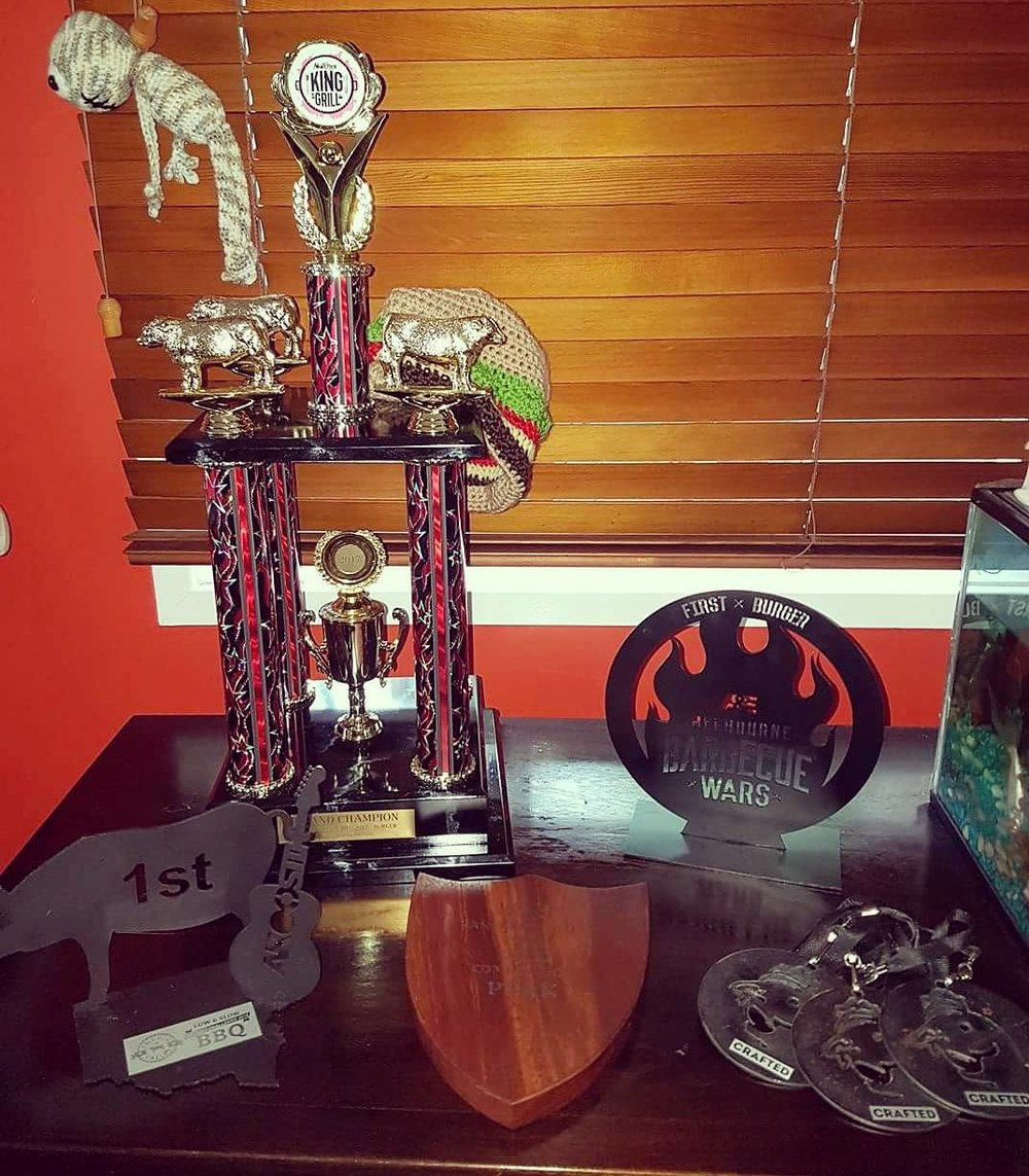 Our current trophy haul!