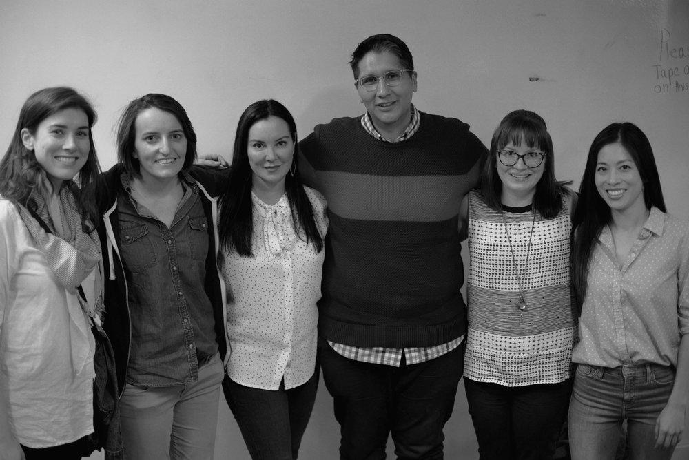 Eileen Jones, Nora Nolan, Script Anatomy Founder Tawnya Bhattacharya, Miguel Ian Reyes, Lorelei Ignas and Cindy Fang.